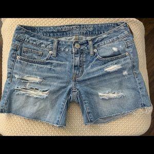 American Eagle Denim Distressed Shorts